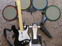 Playstation 3 RockBand Set comes with guitar with