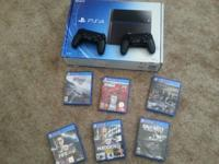 I'm selling my somewhat utilized Ps4 with 6 video