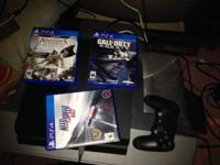 Barely used PS4 for sale, comes with everything