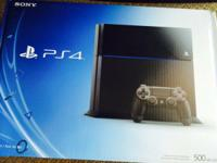 BRAND NEW PlayStation 4 500 GB Jet Black Console