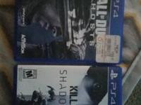 I have call of duty ghost and killzone shadow fall. I