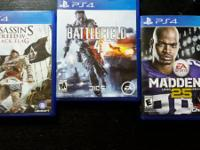 Assassin's Creed IV Black Flag, Battlefield 4, and