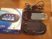 It features the Vita itself, a 16gb memory card, a