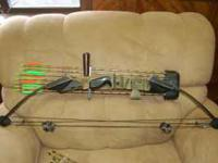 Nice older bow with stabilizer and quiver. Comes with