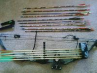 For sale, PSE bow, with sights and quiver, and some