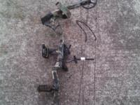 PSE Brute compound bow ready to shoot.  Bow has