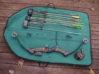 SELLING THIS PSE COMPOUND BOW 3 QUIVERS 10 ARROWS WITH