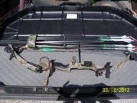 PSE Nova compound bow with 1 dozen arrows and hard