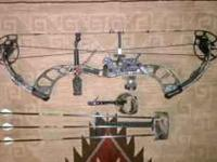 "For Sale 2008 PSE X-force Compound Bow 28"" draw length,"