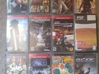 I have EIGHT well maintain video games for sale. - THE