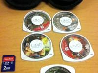Hey there,.  I am offering my 5 PSP video games, case,