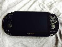 PSP Vita comes with an 8gb memory card, charger, and 2