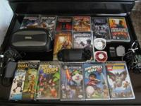 PSP barely used. Includes all 16 games shown (some