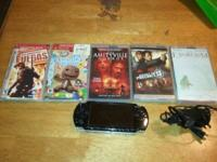 PSP with 2 games-Rainbow Six Vegas, and Little Big