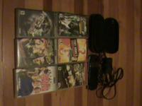 hello i have a psp in good condition. comes with 4