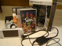 White PSP 3000 system in great condition includes all