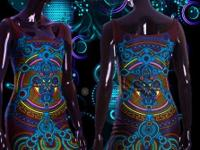 Psychedelic Blacklight Reactive 3D fashions from Monkey
