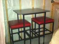 Red & black pub table for sale, asking 125. Table was