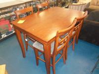 ** NEW ** CHERRY BAR TABLE AND 4-CHAIRS ...$589.00. The