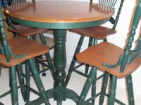 Description Special ordered pubstyle table with 4