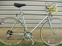 Here is a very nice 12 speed Puch road bike. The 54cm.