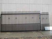 "Iron Gate for Sale. Width is 11'6"" and 70-1/2"" long,"