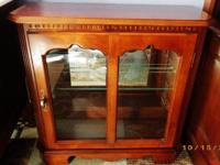 REGRETFULLY I AM SELLING MY BEAUTIFUL CURIO CABINET DUE