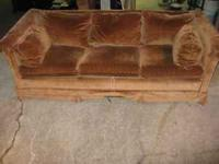 NICE PULL OUT SLEEPER SOFA THAT SLEEPS 2 ADULTS OR