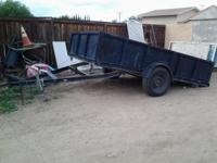 Selling this pull tilt trailer with new tires & in