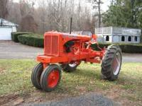 1938 Allis chalmers unstyled WC. I set this up for