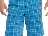 These classic plaid golf shorts by Puma features UV