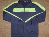Men's size Medium, navy blue full-zip jacket by PUMA.