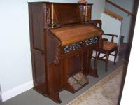 This Pump-Organ is made of solid oak, and is in great
