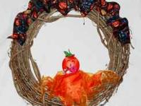 "Handmade wreaths by ""Wreaths By Lisa"". This scary"