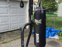 nice professional punching bag stand with punching and