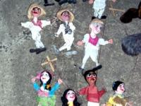 A set of 10 Marionette string puppets plus two small