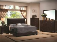 "The ""Conner"" set includes queen bedframe, chest of"