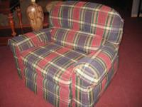 Great large recliner/chair in plaid-- so comfortable