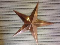 36 inch barn star made from pure 16 oz copper. Edges