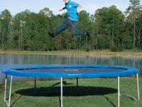 Get bouncing with the Pure Fun 14 foot Trampoline. The