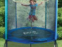 The Pure Fun 8 foot Trampoline and Enclosure Set is