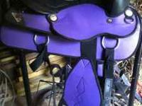 I have a 16inch purple synthetic saddle for sale. It is