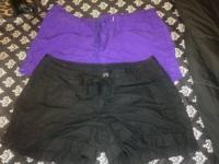 One Black Shorts One Purple Shorts  Size: Both