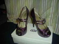 Purple Bakers Pumps. Style: Kristine. Size: 9. Used, a