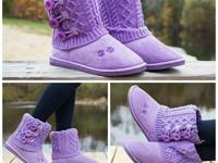 New in the box purple mid rise boots sizes 6 to 11 for