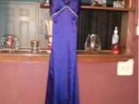 Really nice dark purple dress with rhinestones (Size 4)