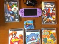 In great condition purple PSP used very few times comes