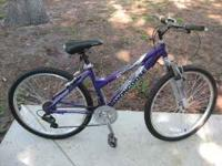 Mongoose Montana purple women's mountain bike. Road one