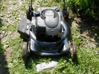 This is a side discharge 22 inch push mower. it has a