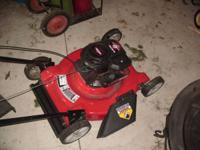 Push lawn mower, only 2 years old. $65.00. Call  //